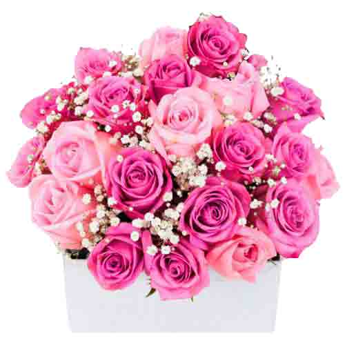 Dreamy Floral Basket of Colorful Roses