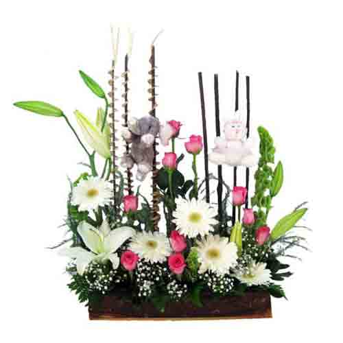 Lovely Gentle Caresses Mix Floral Bunch