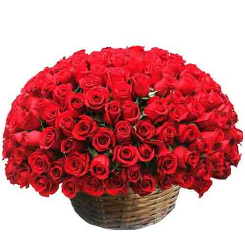 Charming Perfect Surprise Basket of Roses