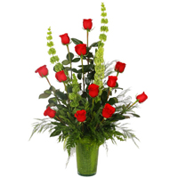Dazzling Bundle of 12 Fresh Red Roses