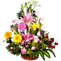Clustered Mixed Flower Arrangement for Memorable Moments