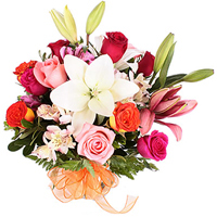 Passionate Feel of Love Mixed Flower Bouquet