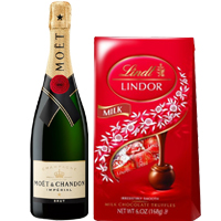 Incomparable Chocolate N Champagne Party Gift Hamper
