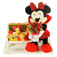 Radiant Burst of Love with Minnie Mouse N Chocolate Gift Hamper