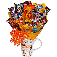 Coffee Mug with chocolate bars