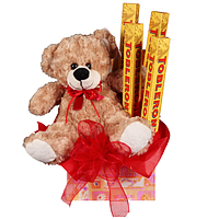 Cute Teddy bear and Toblerone