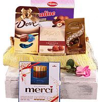 Gourmet Basket of Imported Chocolates