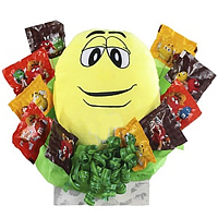 M&M Yellow with chocolates