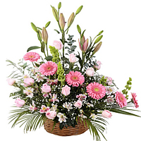 Aromatic Mixed Floral Basket for Valentines Day<br>