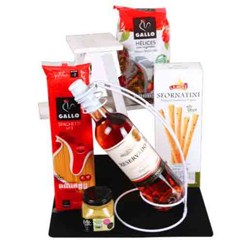 Adorable Christmas Special Gourmet N Wine Hamper
