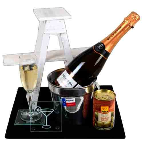 Christmas Celebration Gourmet Basket with Sparkling Wine