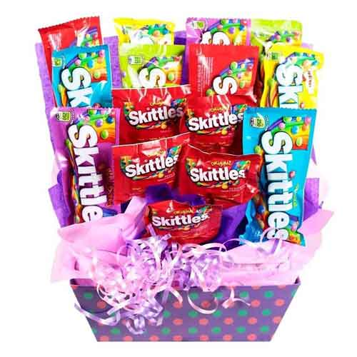 Enigmatic 15 Skittles Package Bouquet