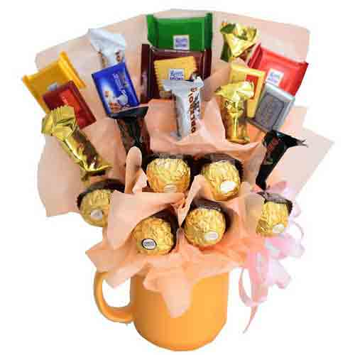Enigmatic Imported Chocolate Candies Bouquet