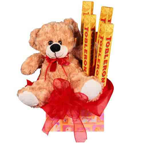 Lovable Teddy N Chocolate Gift Pack