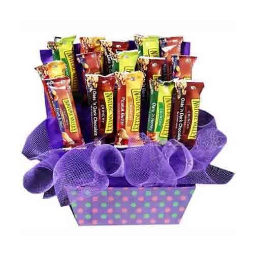 Beautiful Gift Basket of Candy Bars