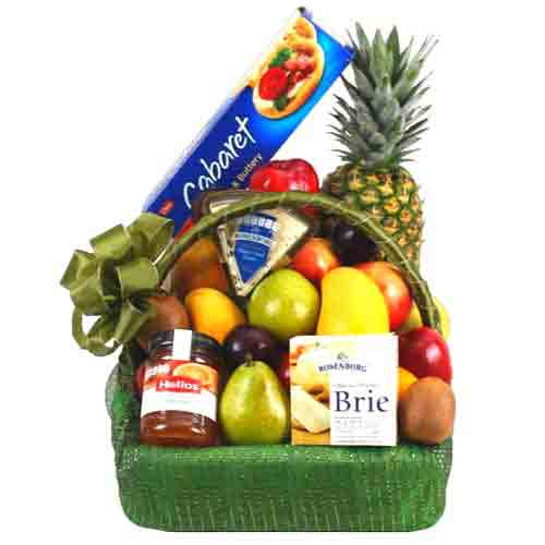 Gorgeous Fruits N Gourmet Delicacy Gift Basket
