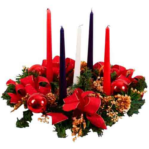 Luminous Candle Lit Floral Centrepiece