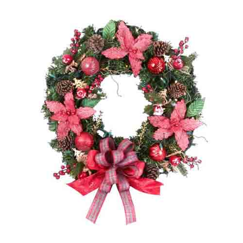 Gorgeous Christmas Decoration Wreath in Oval Shape