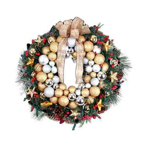 Ornamental Christmas Wreath