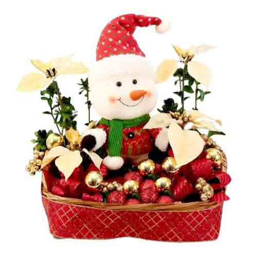Festive Delight Decorative Snowman