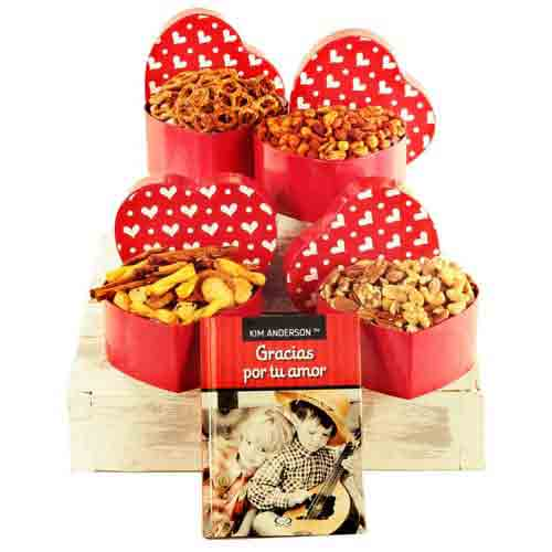 Welcoming Gift Tower of Sweet N Savory Assortments