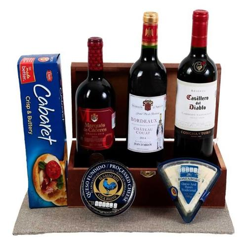 Distinctive Red Wine Treat Hamper