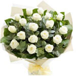 Bouquet of 24 White Roses