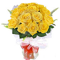 Bouquet of 24 Yellow Roses