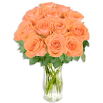 Elegant Orange Roses Arrangement