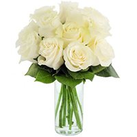 Elegant White  Roses Arrangement