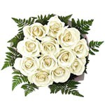 Bouquet of 12 White  Roses